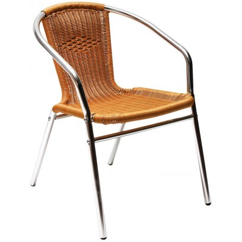 Alu záhradná stolička s výpletom DEMA Comfort