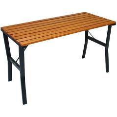 DEMA Záhradný stôl drevo/kov Modern