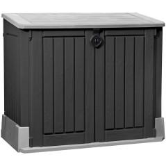 Keter Úložný box na záhradné náradie a popolnice Woodland 30 / 845L