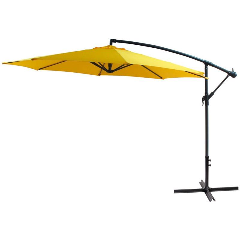 DEMA Závesný slnečník 300 cm, žltý