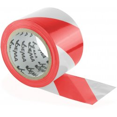 DEMA Výstražná ohraničovacia páska 100 m, červeno-biela