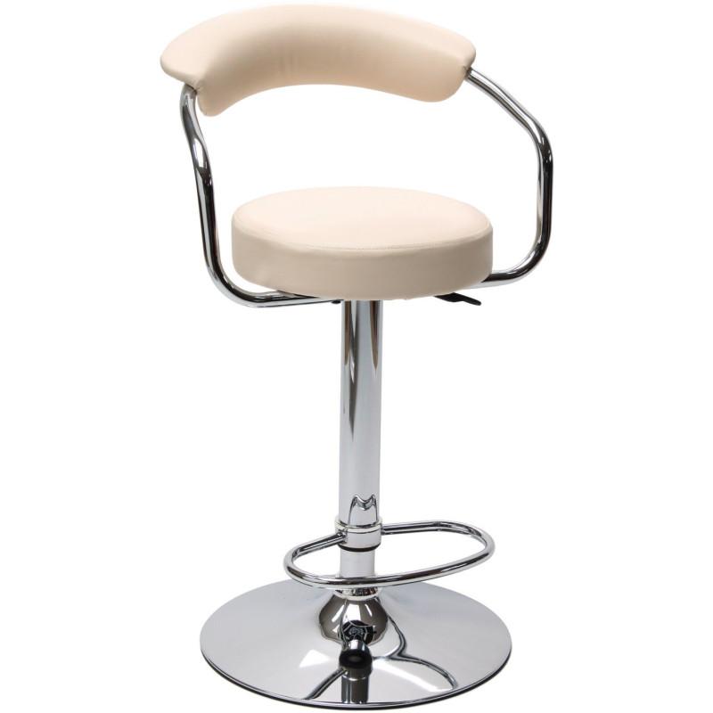 DEMA Barová stolička s operadlom Beige, béžová