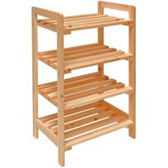 Regál drevený 4-policový 45 x 33 x 79 cm