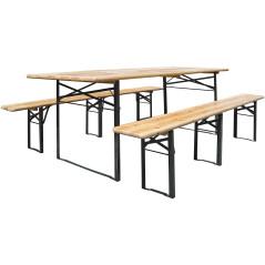 Set záhradný - 1 stôl + 2 lavice