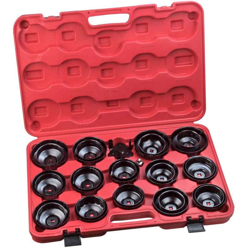 DEMA Kľúče na olejové filtre, 30-dielna sada