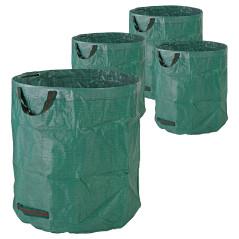DEMA Vaky na záhradný odpad 272 L, zelené, 4 ks