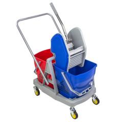 Dvojitý upratovací vozík 60L DEMA