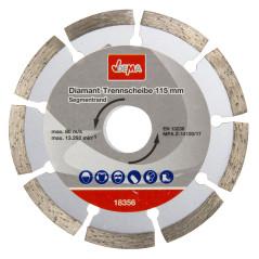Diamantový rezný kotúč segmentovaný 115 mm DEMA DDT115S