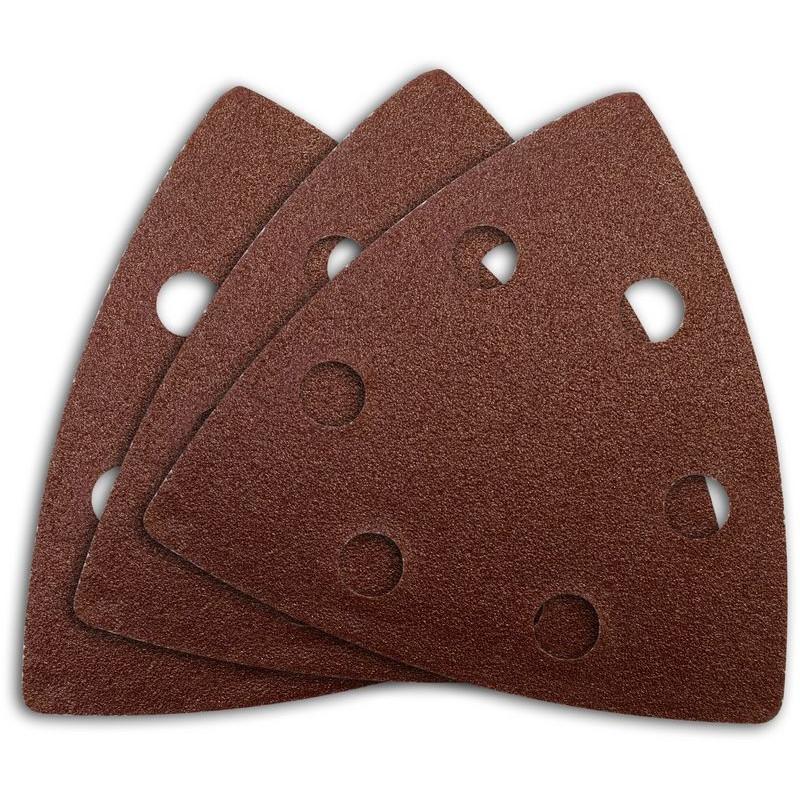 Güde Brúsny papier delta 93x93 mm, 2x K60, 2x K80, 2x K100