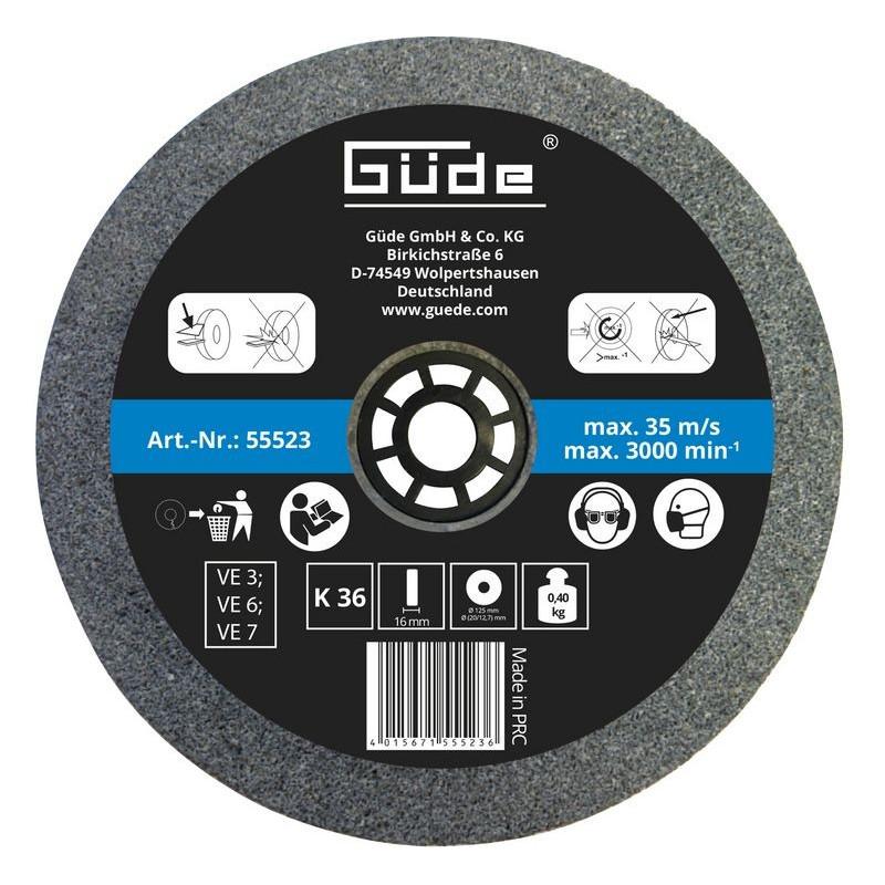 Güde Brúsny kotúč 125x16x20 mm K36