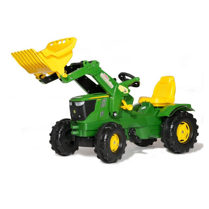 Traktor s nakladačom John Deere 6210R Rolly Toys
