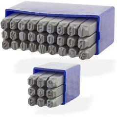 DEMA Raznice písmená + čísla 6 mm, 36-dielna sada