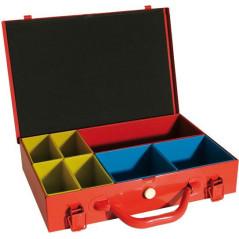 Vintec Kovový kufrík so zásobníkmi 34x23x7 cm, 7 zásobníkov US1