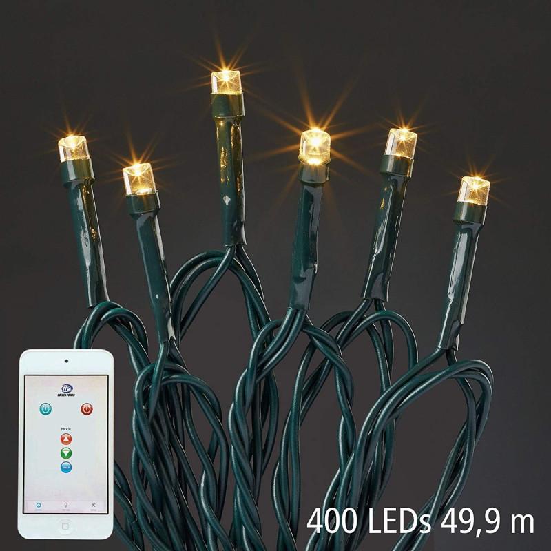 Hellum Svetelná reťaz LED s ovládaním cez mobil 49,9 m