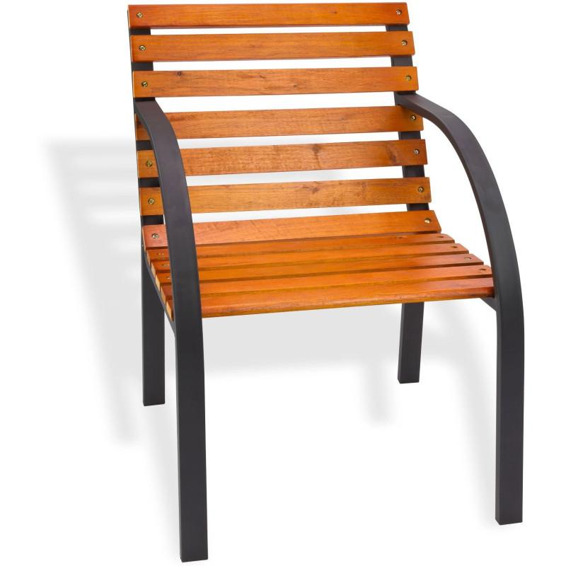 DEMA Záhradná stolička drevo/kov 55 cm Modern