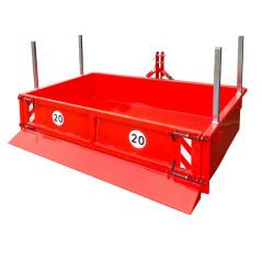 Kontajner zadný s hydraulikou 125x220x40 cm