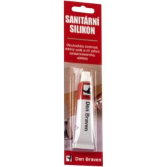 Den Braven Sanitárny silikón 23 ml, biely