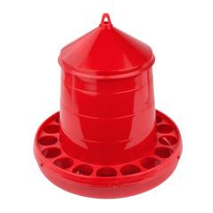 MenaVET Kŕmny automat pre hydinu plastový 4 kg, červený