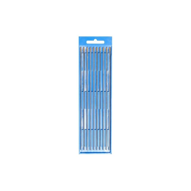 Volfrámová elektróda 2,4x175 mm LA 15 zlatá, 10 ks