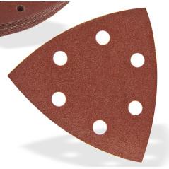 DEMA Brúsny papier pre delta brúsku 93x93x93 mm P150, 10 ks