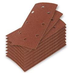 DEMA Brúsny papier pre vibračnú brúsku 93x185 mm K40, 10 ks