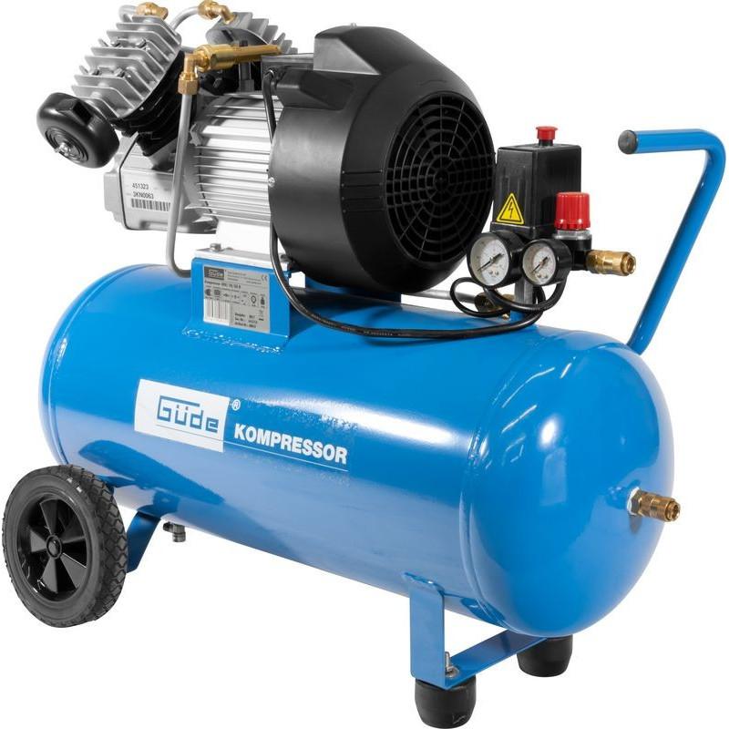 Güde Kompresor + sada pneumatického náradia 400/10/50 DG, 15-dielna sada