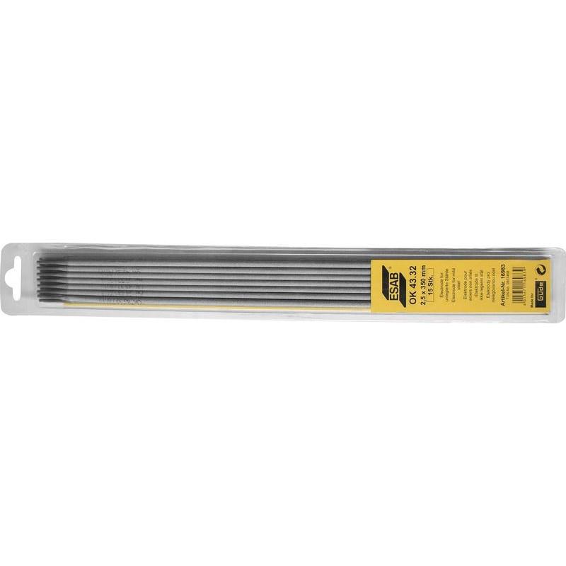 Elektródy ESAB 2,5x350 mm SB OK43.32, 15 ks Güde